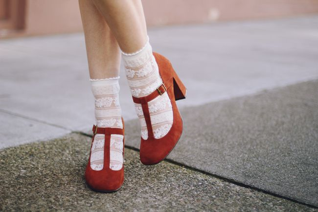 Socks + Shoes. OK here's the thing ... I don't get the whole socks and shoes/sandals thing BUT i love these T-bars