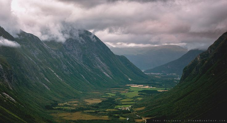 """5-year bike trip, day 75: Climbing up the Trollstigen road and mountain, I was reminded of what my landscape photography teacher once said: """"Don't forget to look behind you."""""""