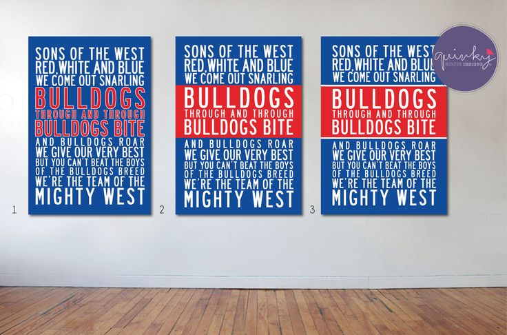 Western Bulldogs Team Anthem - Printable digital design, custom size $25 (ready to print on canvas) - Framed A3 print (choice of black, brown or white wood frame, dimensions 40cms x 49cms) $40 (plus postage or free pick up from Geelong area)