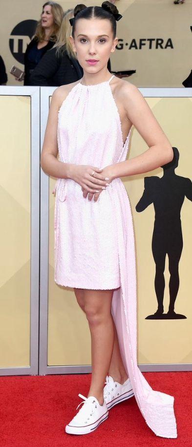 Millie Bobbie Brown on the Red Carpet SAG AWARDS 2018   #strangerthings #milliebobbiebrown