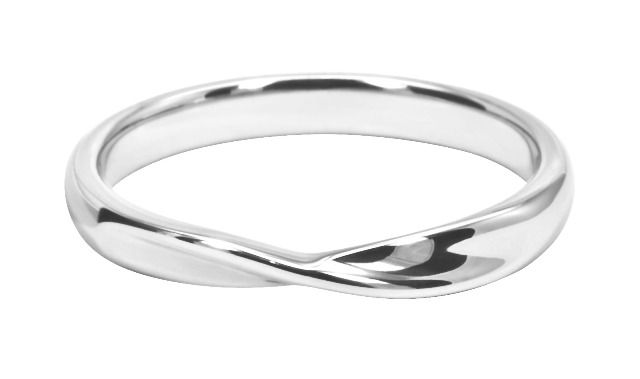 Simple Twist Wedding Band