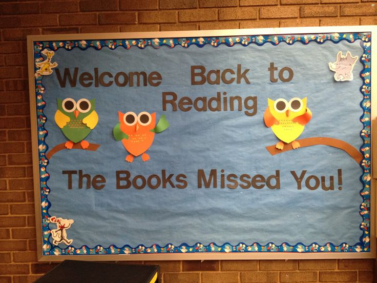 Back to School, Library Bulletin Board, Reading