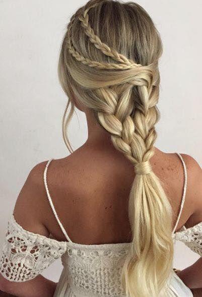 Penteado | Hairstyle | Penteados para noivas | Hairstyle for brides de 2019 | Pinterest | Ideias de cabelo, Penteados e Penteados para menina