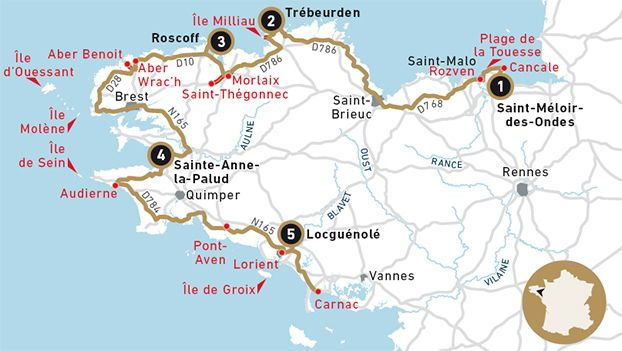 Circuit around the coast of Brittany by The Sentier des Douaniers - Olivier Roellinger - Relais Châteaux