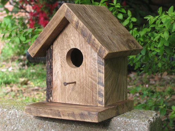 Bird House Rustic Bird House Repurposed Wooden Bird by Rustastic, $15.00