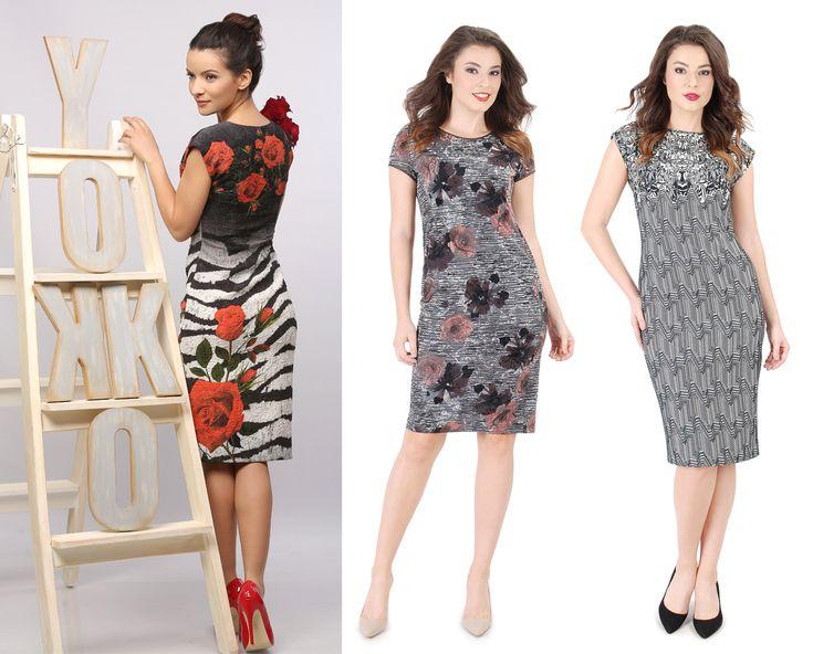 Beautiful brocade dresses YOKKO  fall16 #dress #brocade #prints #flowers #blackwhite #red #velvet #yokko