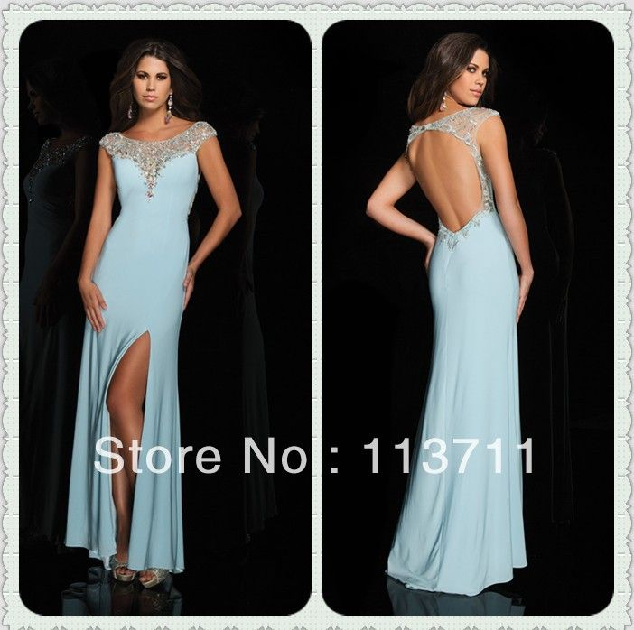 entirely high neck beaded open back chiffon light blue prom dresses under 50 in prom