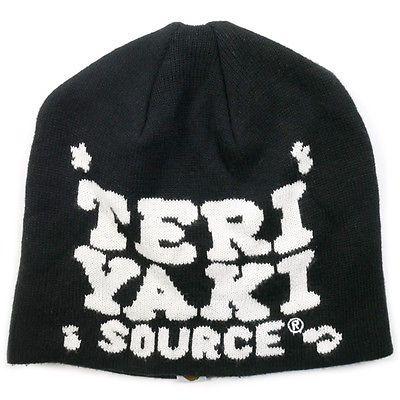 A BATHING APE TERIYAKI SOURCE LOGO BEANIE BLACK FREE