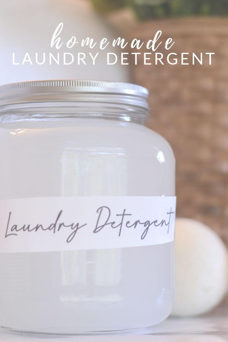 Homemade Natural Laundry Detergent Recipe Homemade Laundry Detergent Natural Natural Laundry Detergent Diy Detergent