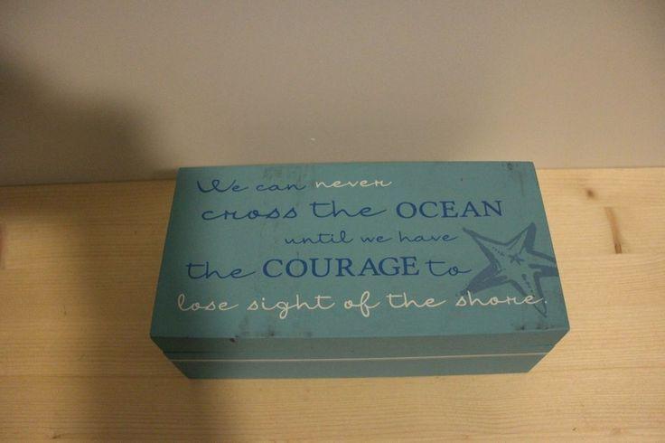 """9"""" x 4.5"""" LIGHT BLUE OCEAN SEA BEACH KEEPSAKE TREASURE MEMORY BOX    eBay"""