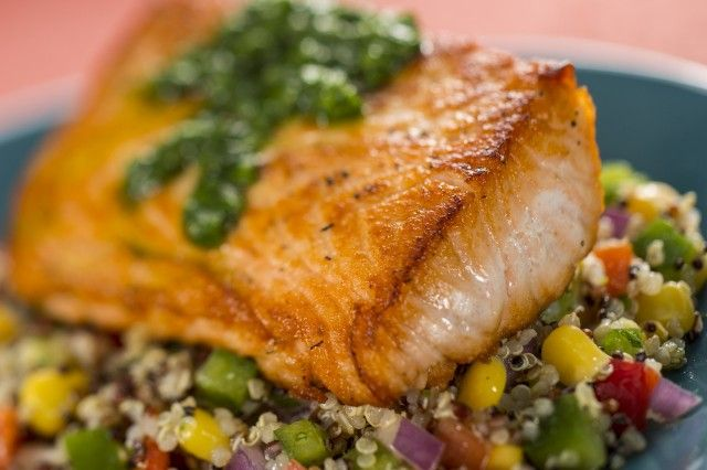 Try this Verlasso Salmon with Quinoa Salad #recipe from the Epcot International Food & Wine Festival @Disney