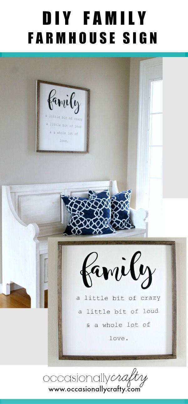 Family Farmhouse sign for wall decor