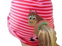 Stickdatei : Mütze für Pferdeschwanz-Trägerinnen