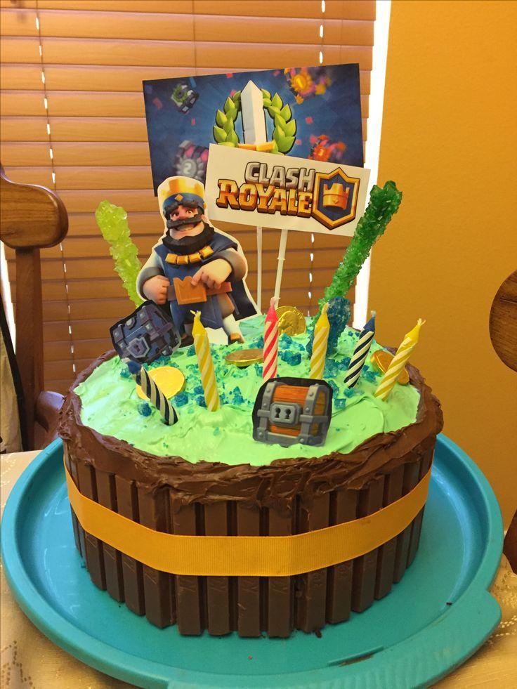 Clash Royale birthday cake idea