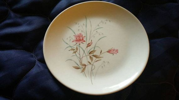 On Sale 1920s China Taylor Smith Taylor 9.25 inch Luncheon Plate with Pink Roses Replacement Dish