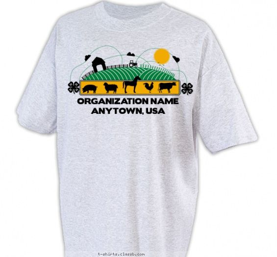 4 H Agricultural Shirt   4 H Club Design SP2349