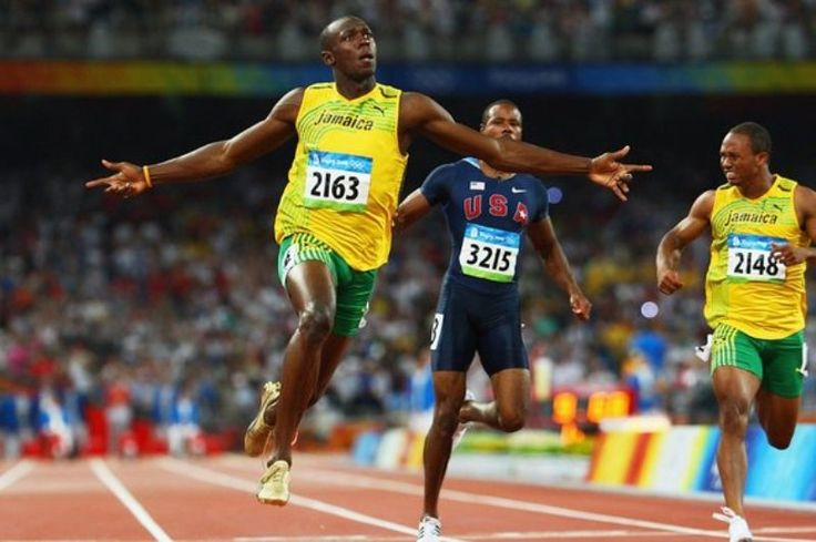 2008 BEIJING: Usain Bolt smashes the 200m world record time on his way to Olympic gold medal