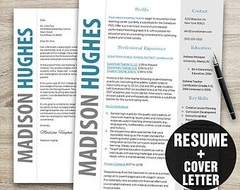 resume template resume cover letter template by businessbranding - Cool Free Resume Templates