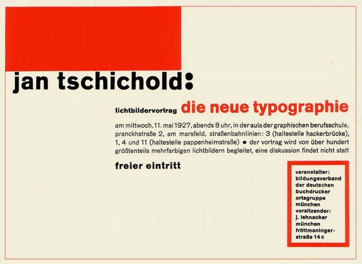 Jan Tschichold, 1927: Die Neue Typografie
