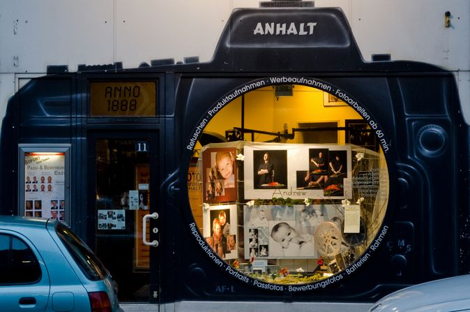 This camera shop in Hamburg, Germany stands out among the rest! #RetailDesign #StoreFront