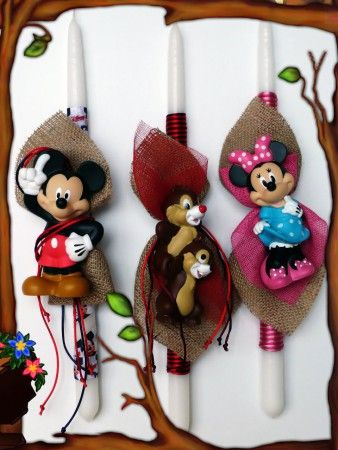 Λαμπάδες Disney Mickey-Minnie