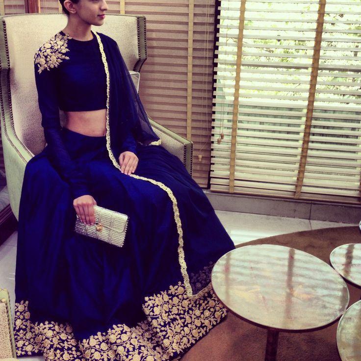 2 indian designer dresses for engagement (32)