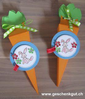 Geschenkverpackung Karotte Ostern