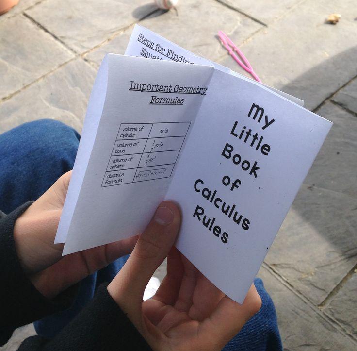 Fun mini-book for AP Calculus