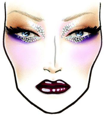 Face Chart de fantasia