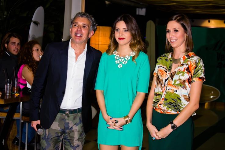#MelaoVerano2013 Caracas-> Mario Aranaga Host del evento junto a Sheryl Rubio y nuestra diseñadora María Fernanda Vera