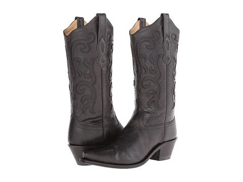 Old West Boots LF1579 Black - Zappos.com Free Shipping BOTH Ways