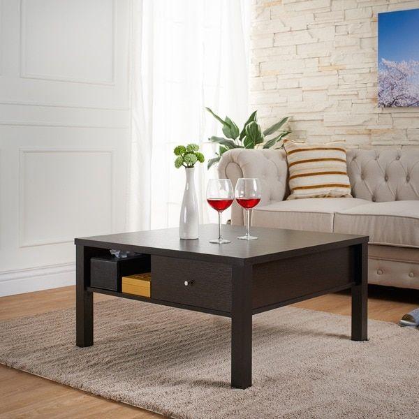 Furniture of America Wellson Square Contemporary Coffee Table
