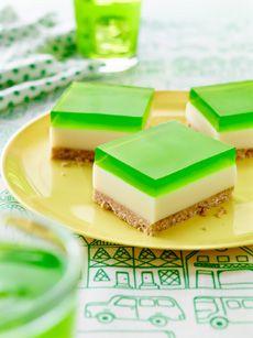 Lime Jelly Slice. Morning tea inspiration! #aeroplanejelly