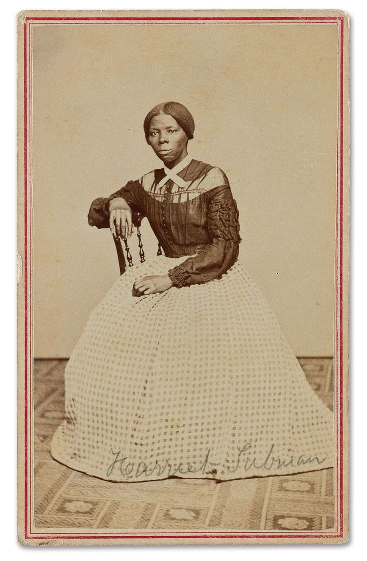 "A New Photo of Harriet Tubman Surfaces! | {ca. 1865-1868} ""She's clad in simple but beautiful clothing that accentuates how Tubman was actually petite and feminine. What's remarkable about this photograph is that she's so proud and dignified and beautiful. She looks so young. This is the vibrant young Tubman just coming off her work during the Civil War. She's building her life with her family in Auburn."" -Dr. Kate Clifford Larson"