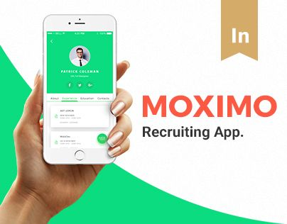 다음 @Behance 프로젝트 확인: \u201cMoximo. Recruiting app.\u201d https://www.behance.net/gallery/47310061/Moximo-Recruiting-app