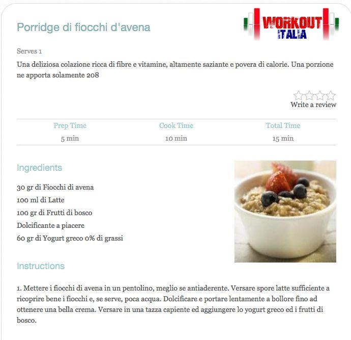 Ottima colazione light: proteica, saziante ma a basso contenuto calorico.