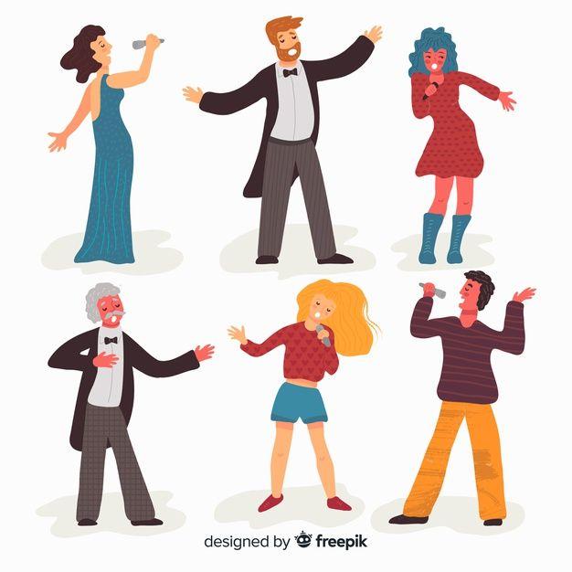 Download People Singing For Free Singing Drawing Cartoon People Drawing Cartoon Faces