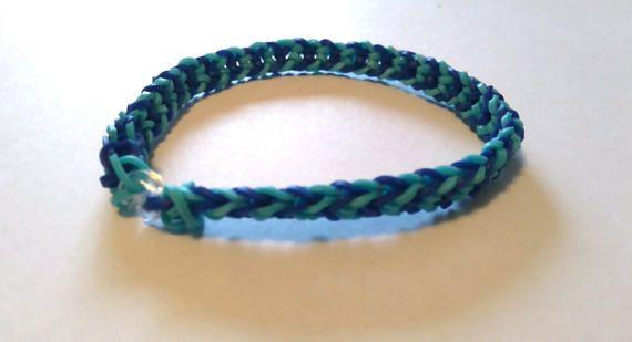 Inverted Fishtail Rainbow Loom Bracelet Large