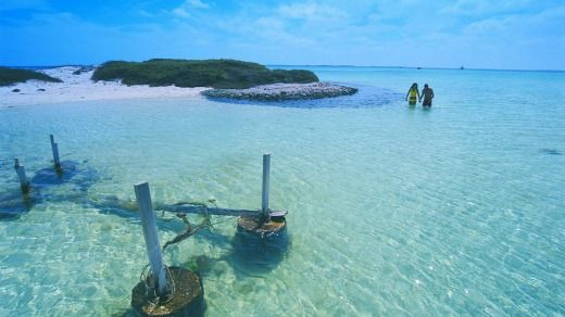 One of the Houtman Abrolhos islands.Photo: Tourism Western Australia