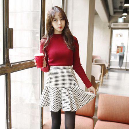 Korea Womens Luxury Shopping Mall [mimindidi] Circle ♡ sk / Size : FREE / Price : 49.49 USD #korea #fashion #style #fashionshop #apperal #luxury #lovely #mimididi #skirt #pattern