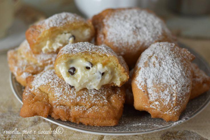Frittelle+ripiene+al+mascarpone+e+cioccolato