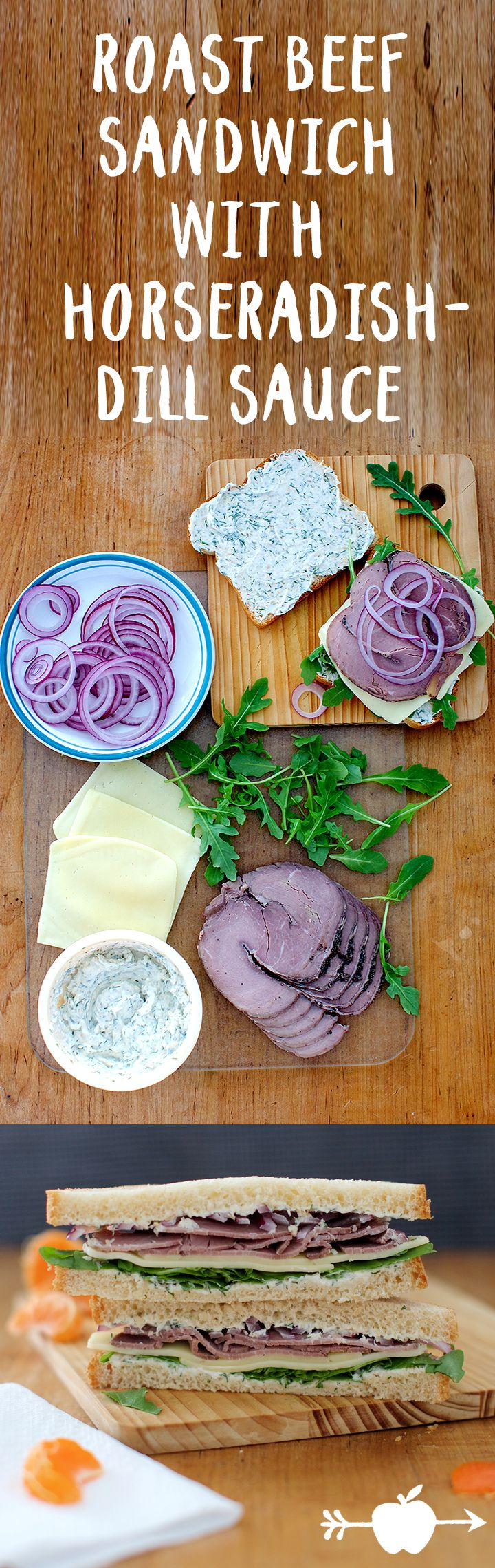 The flavors of the meat, cheese, onions and arugula meld beautifully with the creamy sauce.