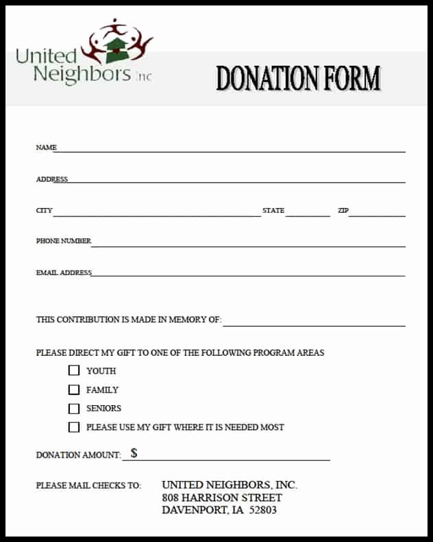Donation Form Template Word New 36 Free Donation Form Templates In Word Excel Pdf Donation Form Donation Request Form Donation Request