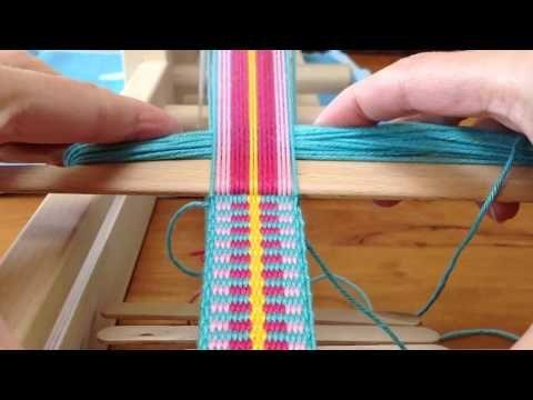 Plain Weaving. Shoulderstrap for Mochila bag / Schouderband voor Mochila tas. - YouTube