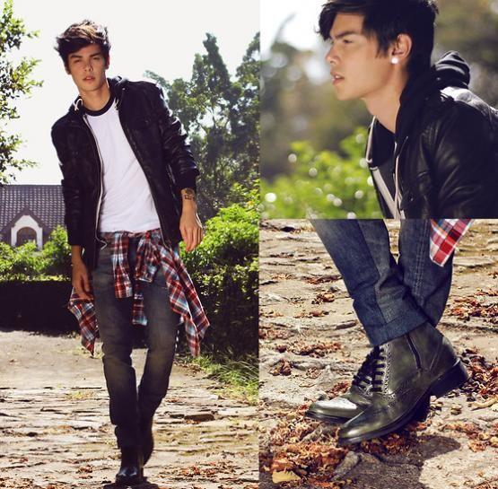 Grunge / Vintage / Leather  Minus the flannel tied around the waist