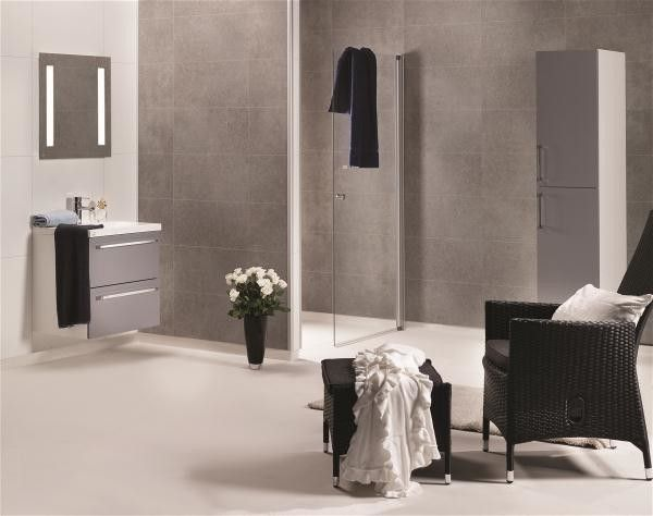 Baderomspanel 4943-M63 Em Grey Concrete Marcato 11x620x2400mm   Byggematerialer, gulv, maling, oppbevaring m.m.   Maxbo.no