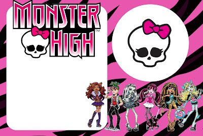 Monster High: invitaciones para imprimir gratis.