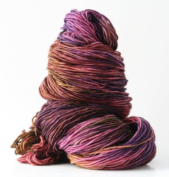 Hand dyed yarn, 80 / 10 / 10% super wash Merino / Cashmere / Nylon, s ...