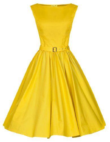 Lindy Bop 'Audrey' Hepburn Vintage Style Pastel Rockabilly Robe trapèze 1950 (36, Blazing Jaune) Lindy Bop http://www.amazon.fr/dp/B00I3G47Z2/ref=cm_sw_r_pi_dp_IwUlub1TY73JG