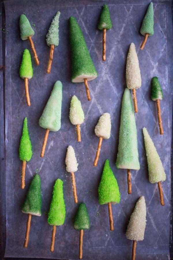 Marzipan Tree Cake Decorations DIY